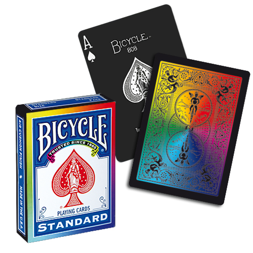 jeux de carte bicycle Bicycle   Jeu de cartes rainbow   Noir   Magic Effect